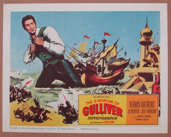 3 worlds of gulliver lobby card