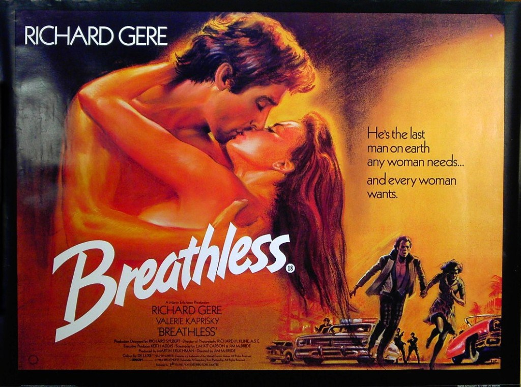Breathless 1983 poster